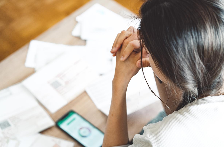 credit score negative impact health