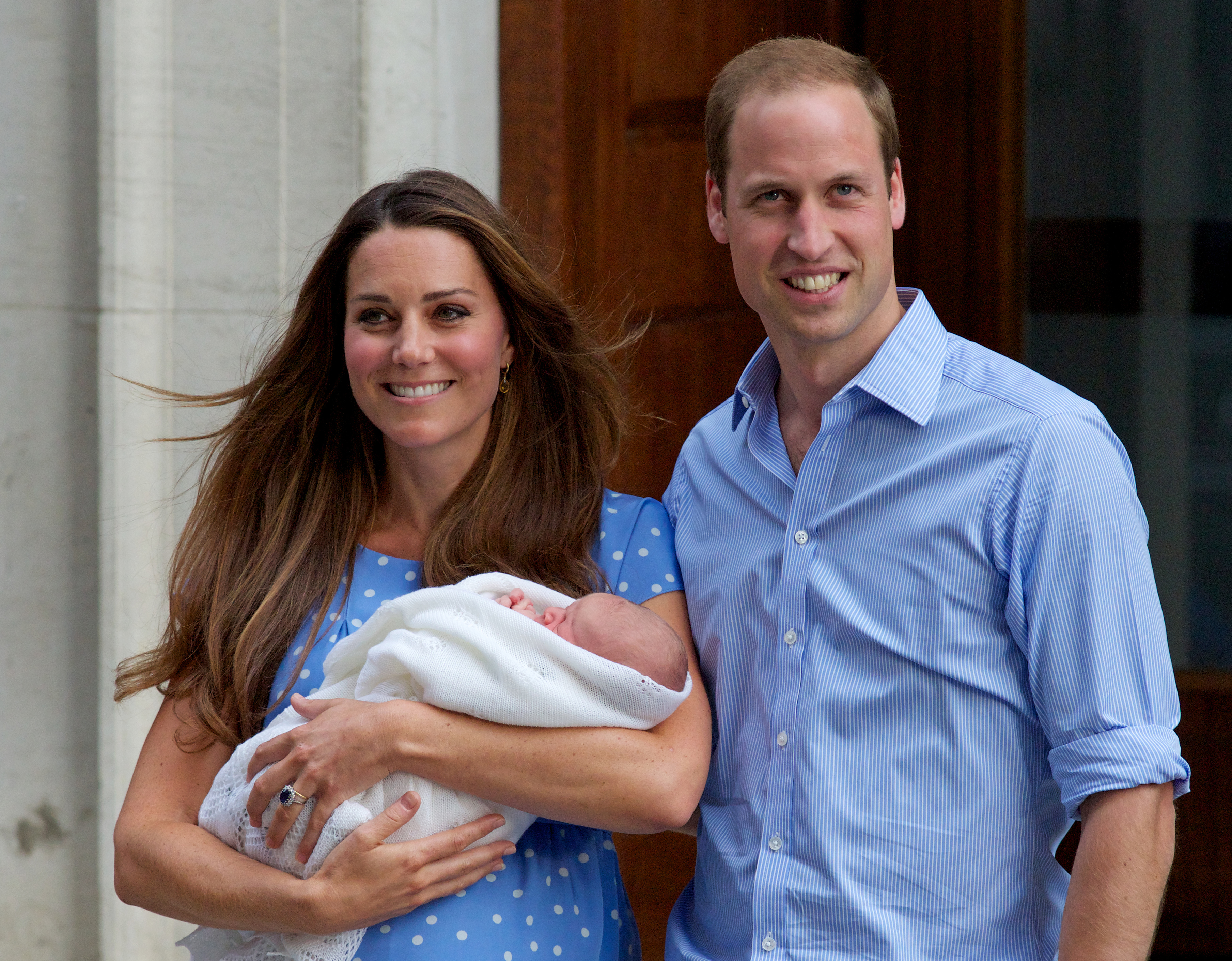 Kate Middleton shares details of the mishap she suffered after Prince George's birth