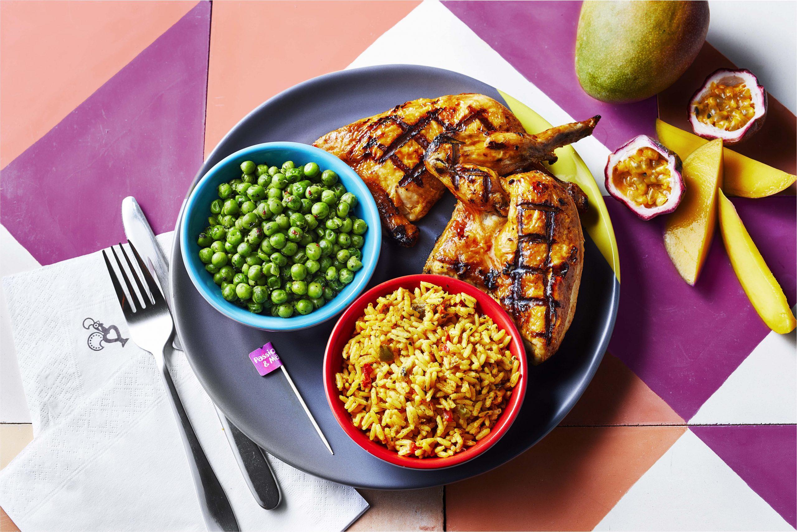 nandos chicken on a plate