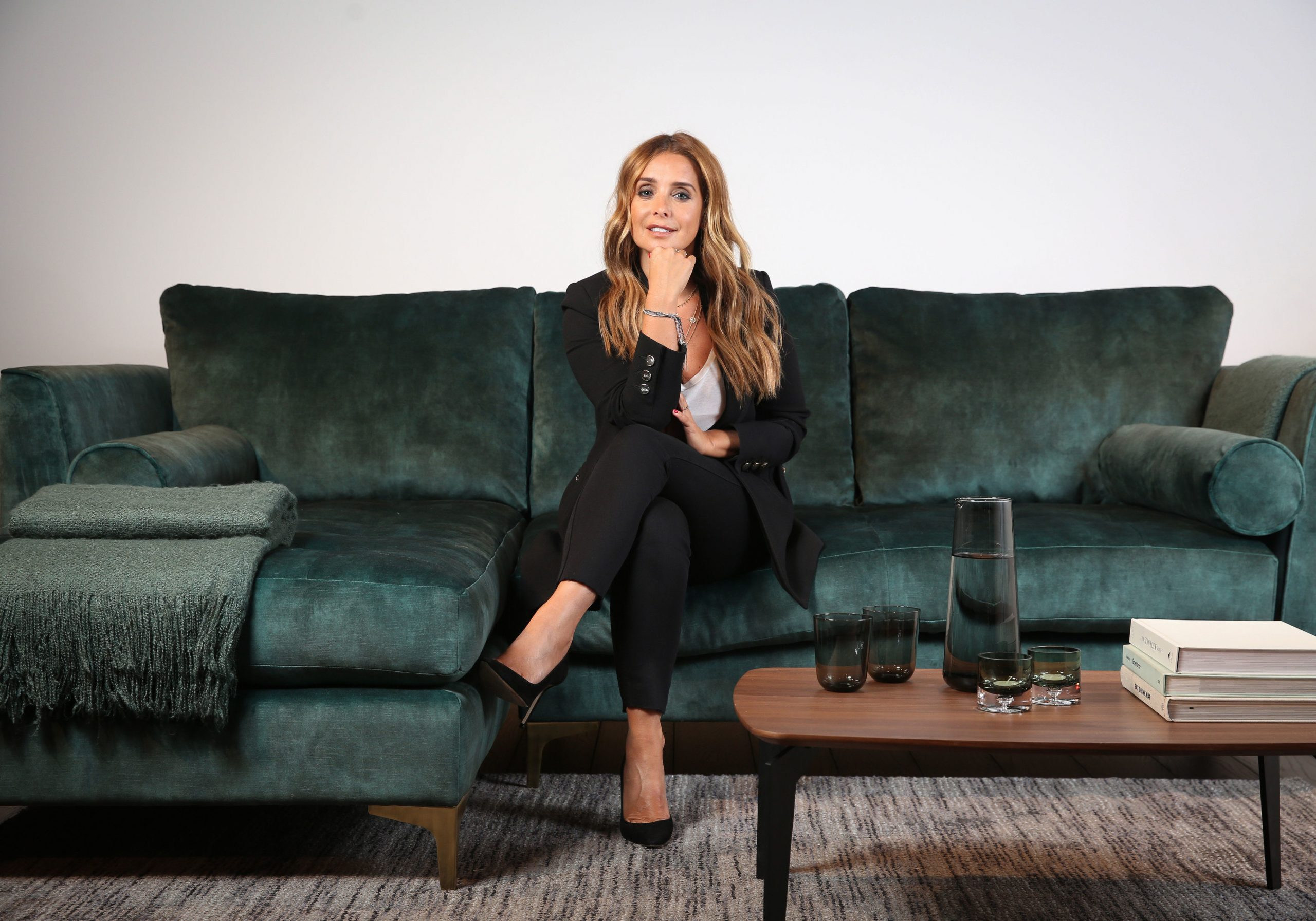 louise redknapp on the sofa