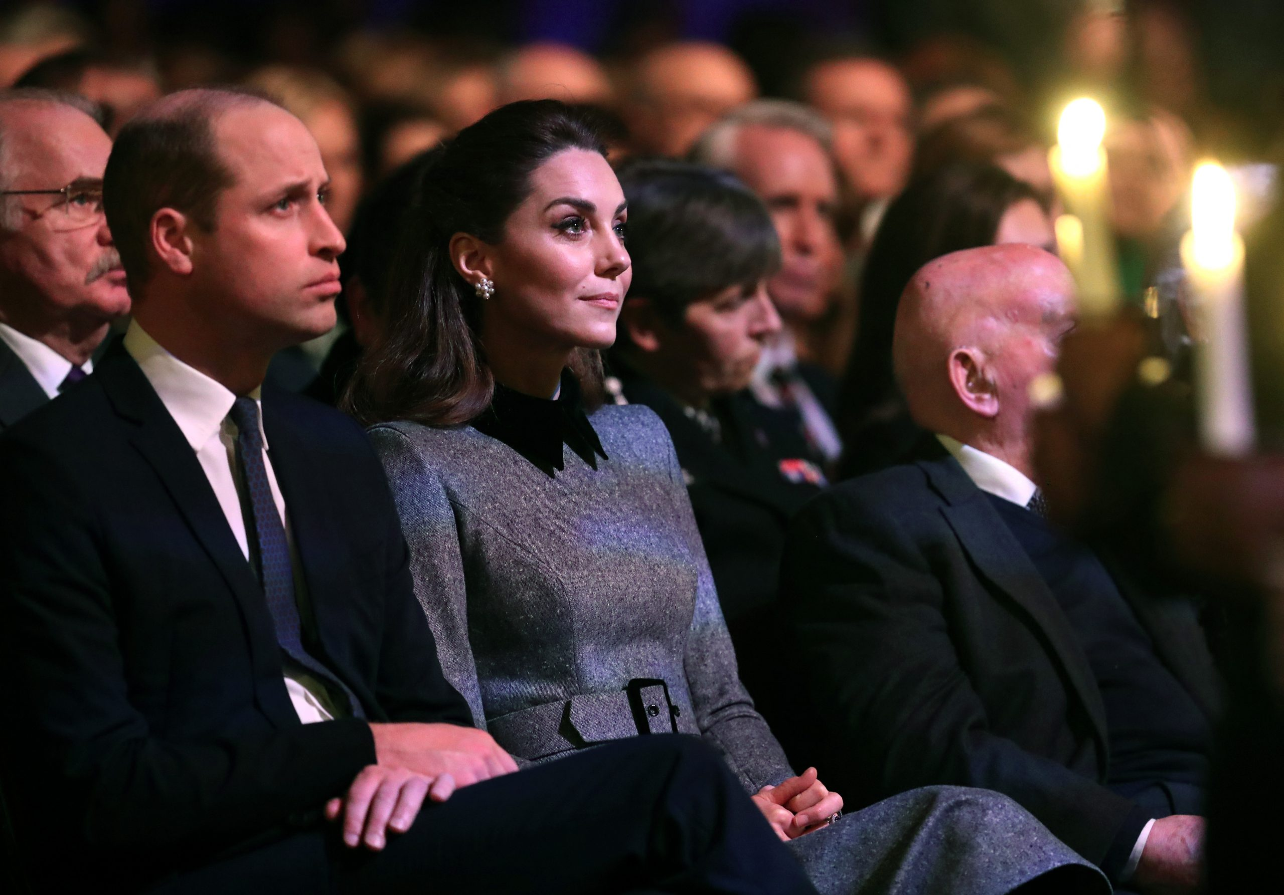 duke and duchess of cambridge at holocaust memorial service