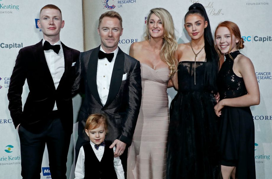 Ronan Keating, Storm Keating and their family