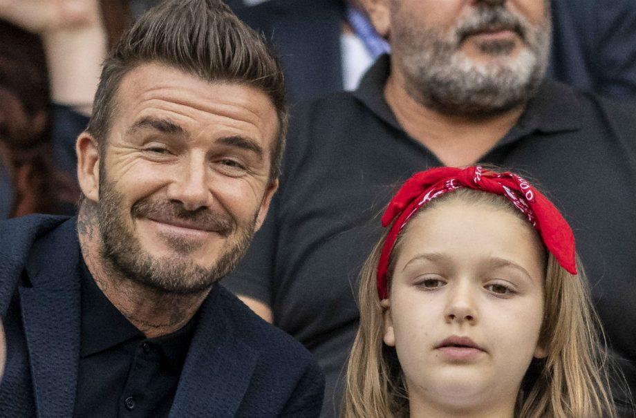David Beckham and daughter Harper Beckham