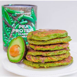 These vegan protein pancakes made with spinach are ideal for an easy weekend