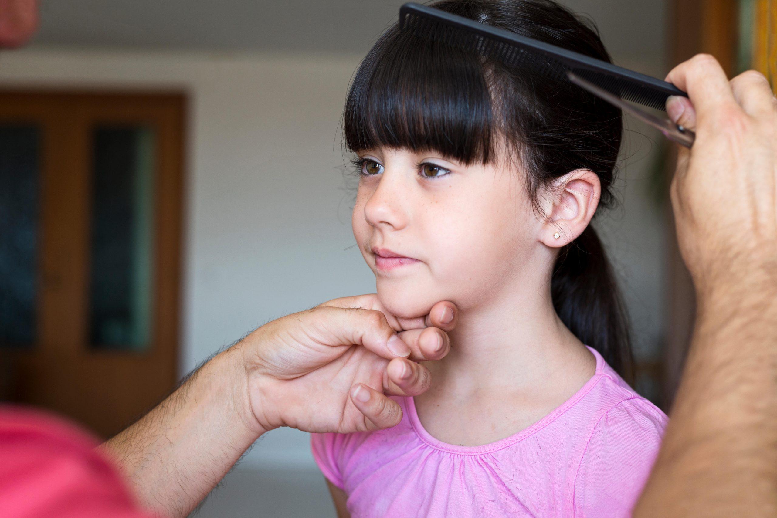 cutting your child's fringe