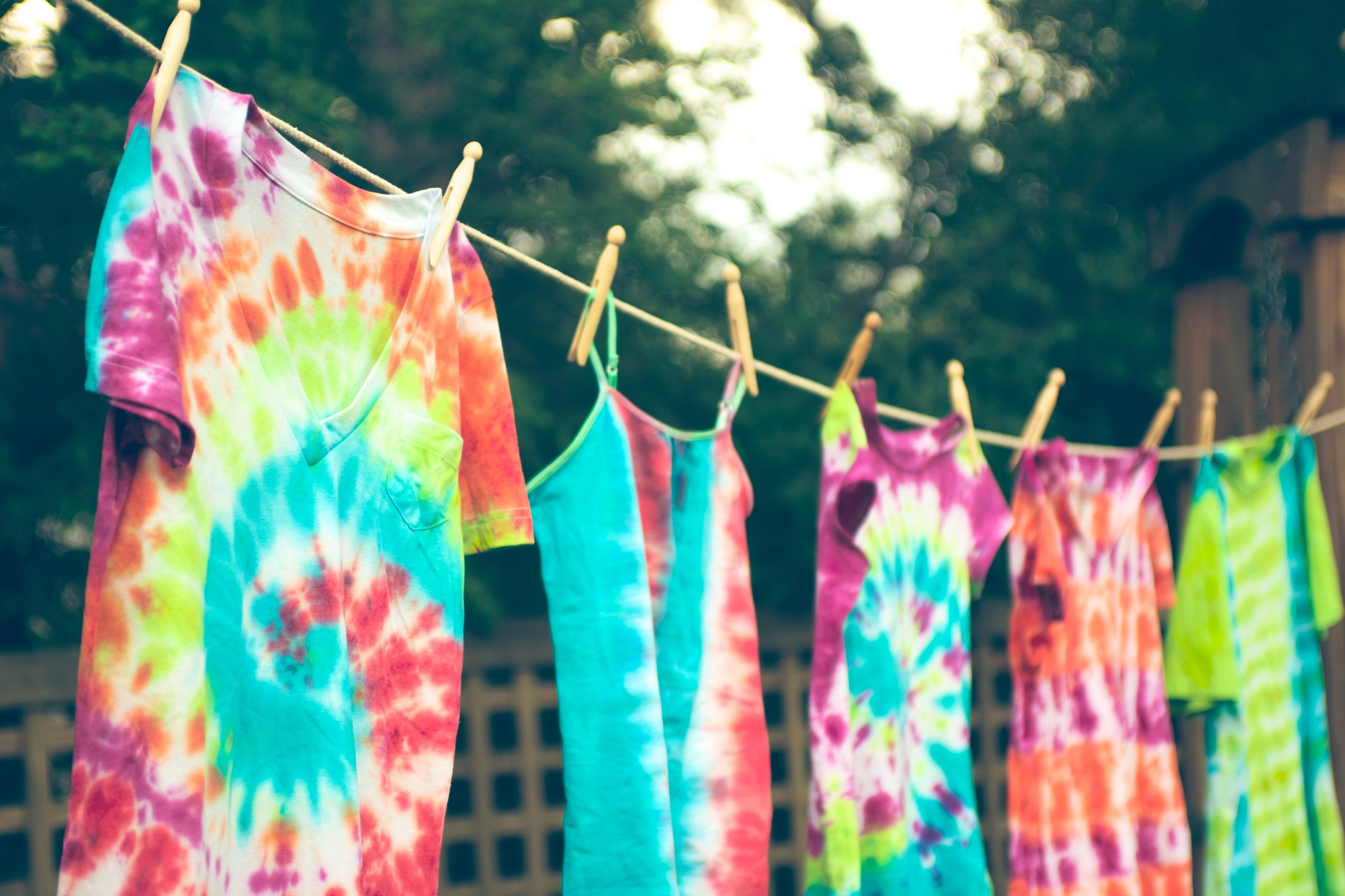 tie-dye with household items