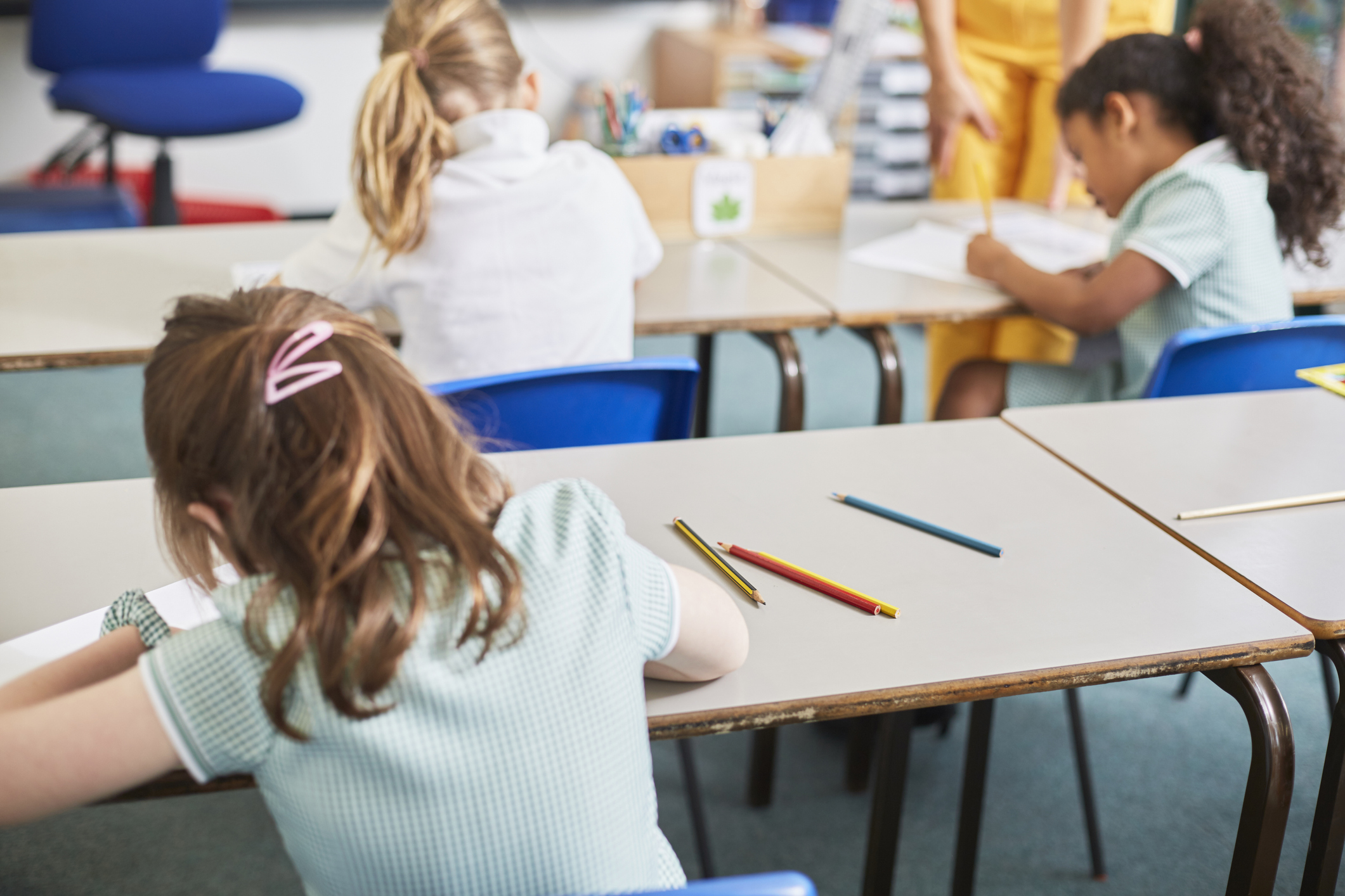 Children in a class room while primary school places announced