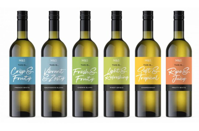 marks spencer simplified cheap wine range