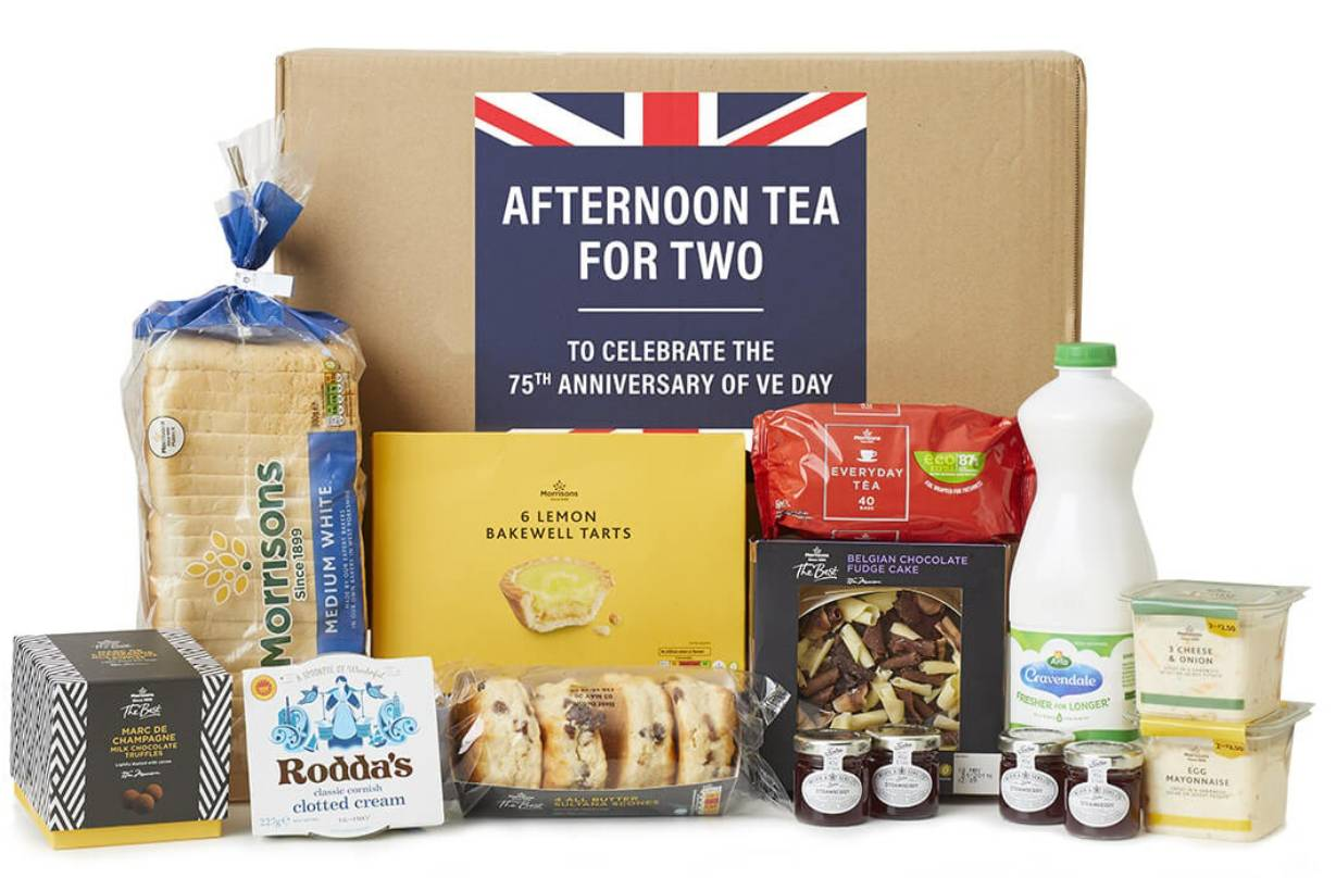 morrisons afternoon tea box £15