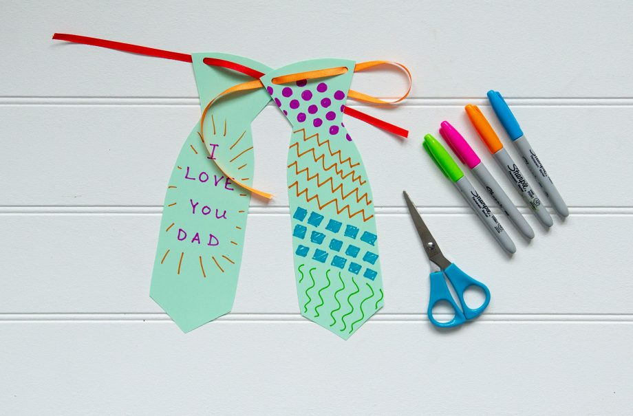 How to make a paper tie for Father's Day