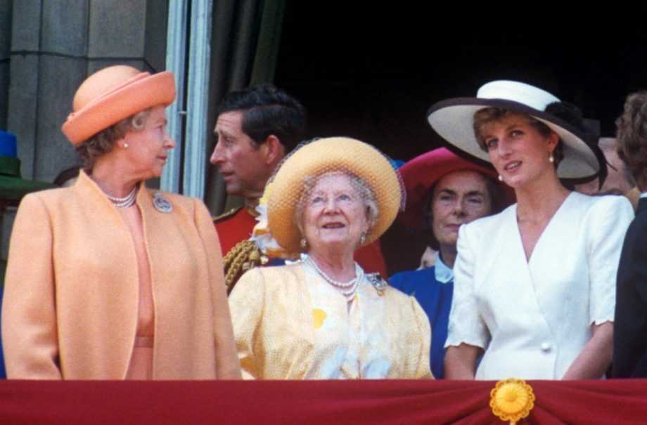 The Queen, Queen Mum and Princess Diana
