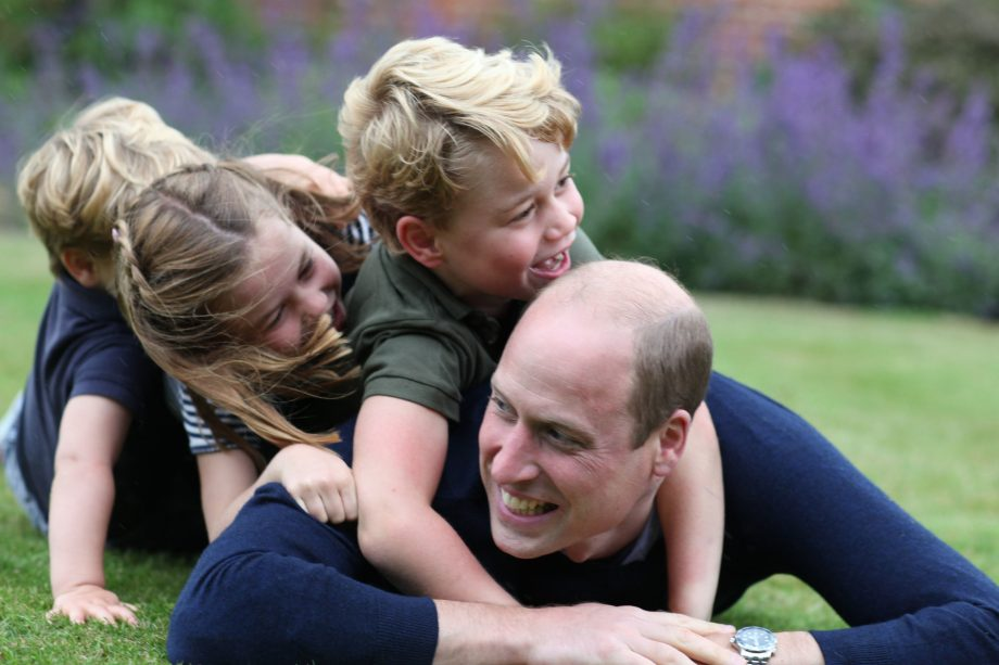 Prince William, with children Prince George, Charlotte and Louis