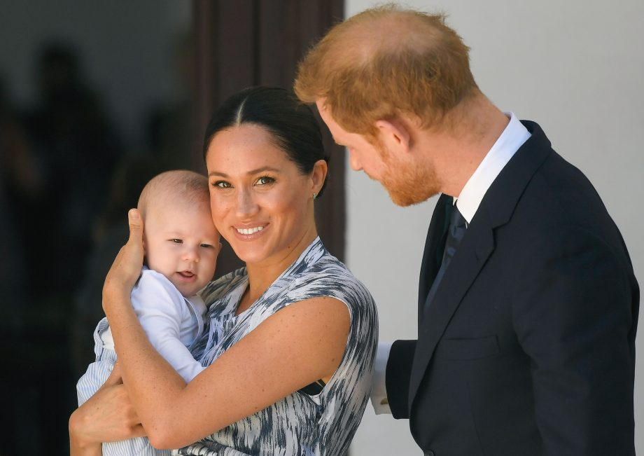 baby Archie with Meghan markle and prince harry