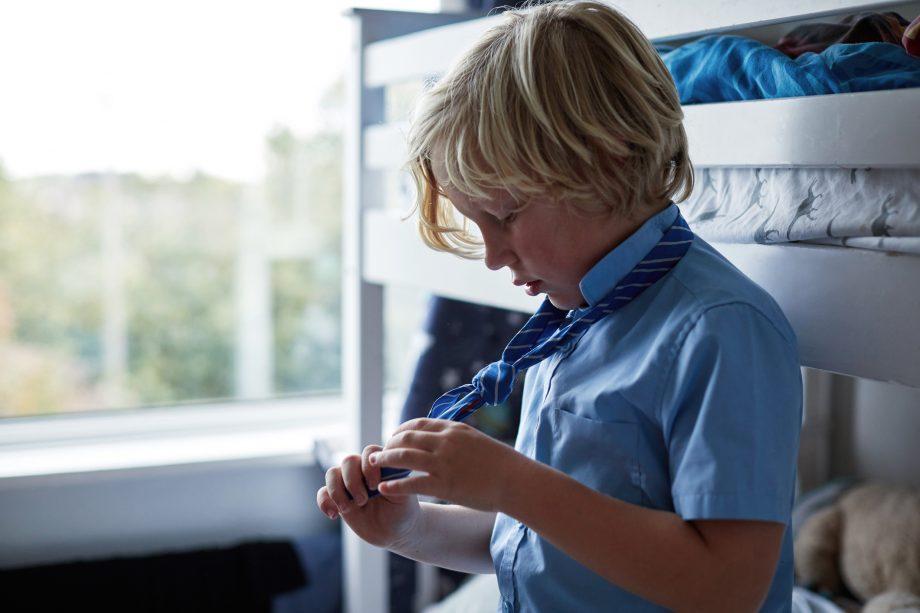 clean school uniform