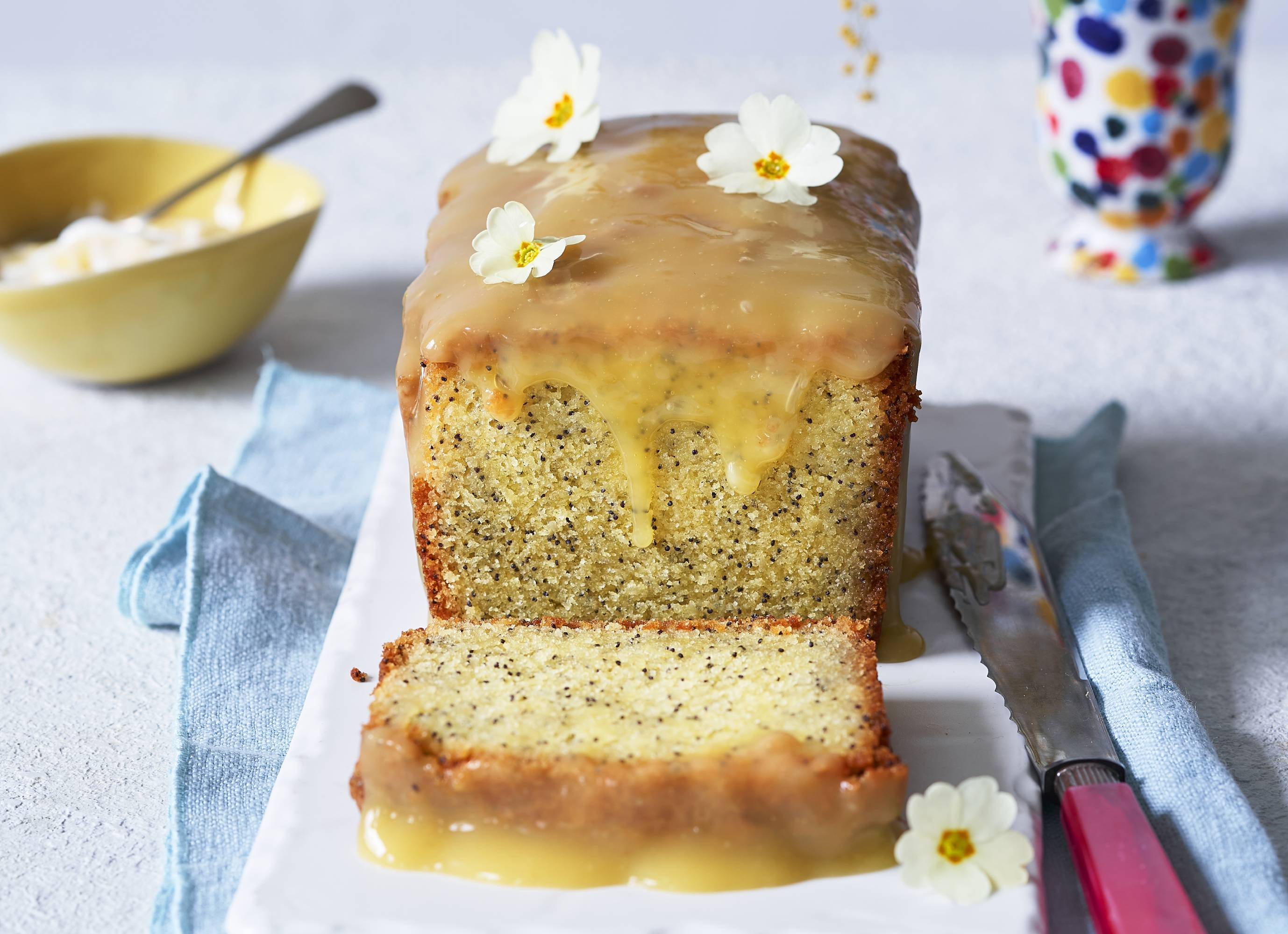 Try this zesty gluten-free lemon and poppy seed cake for the perfect afternoon tea