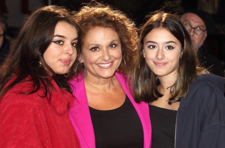 Nadia Sawalha and her daughters Maddie and Kikki