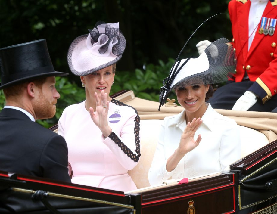 Sophie Countess of Wessex with Meghan and Harry