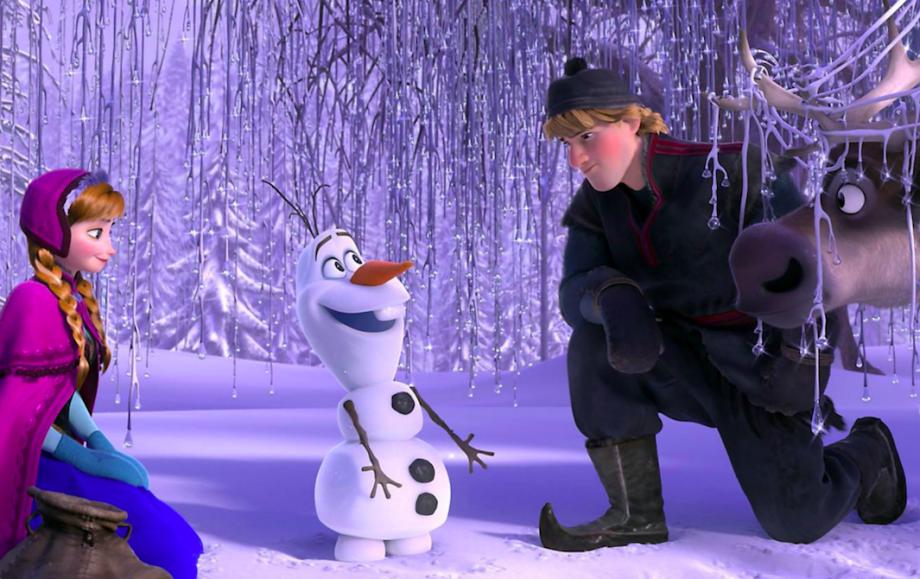 Scene from Disney Frozen film