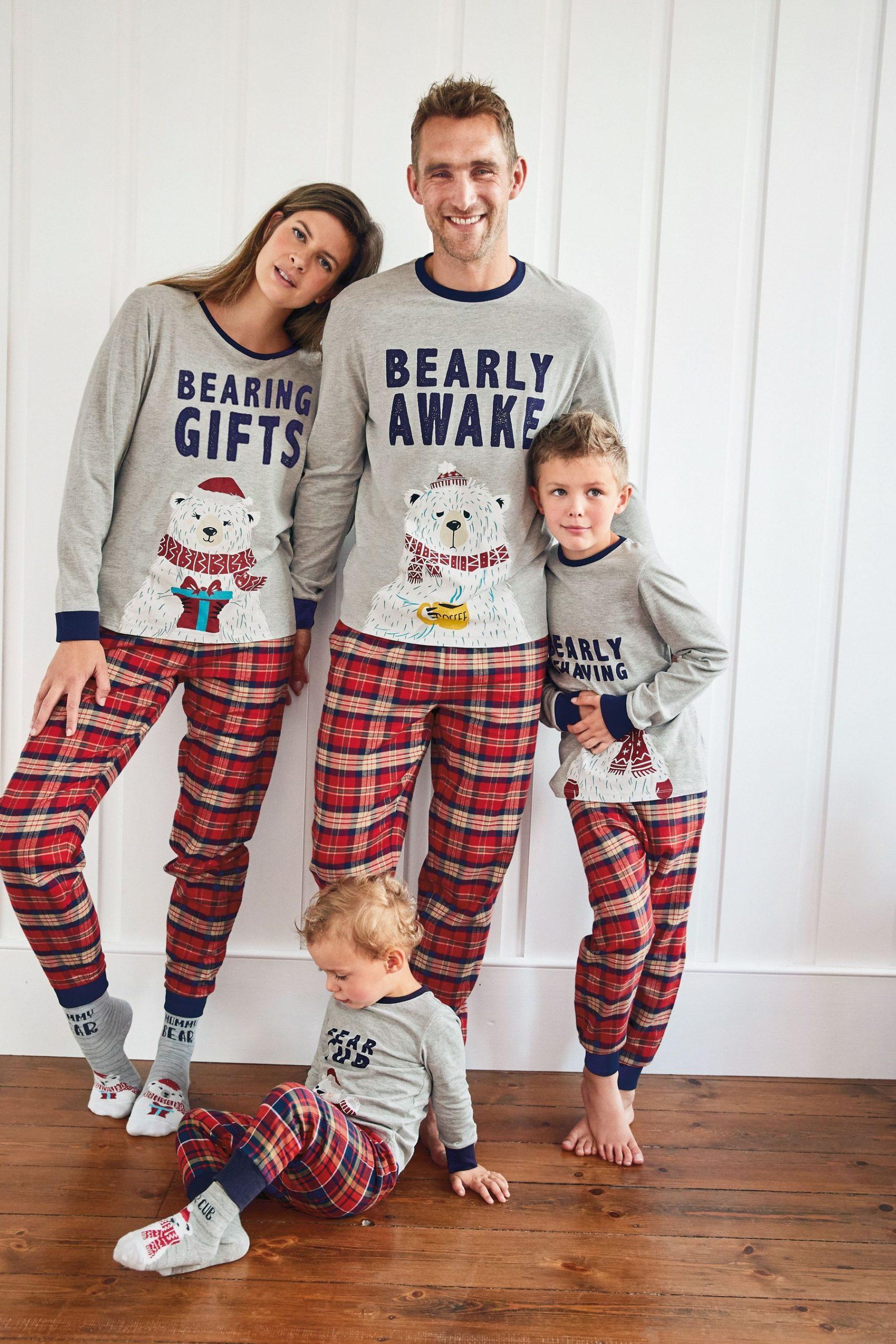 Christmas Family Matching Pyjama Sets Xmas Nightwear Outfits for Dad Mom Girl Boy Baby