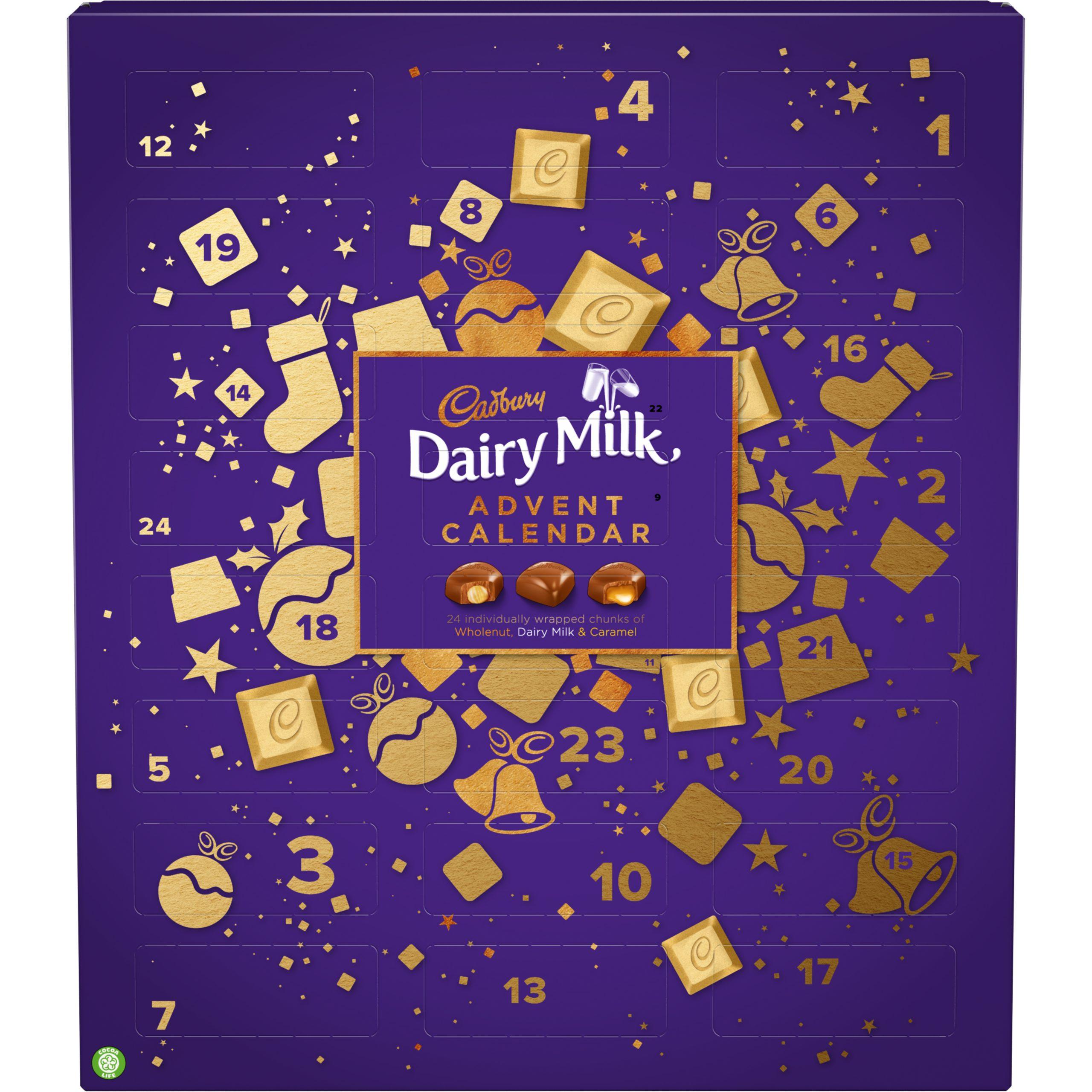 Dairy Milk Chunks Advent Carton Calendar 2020