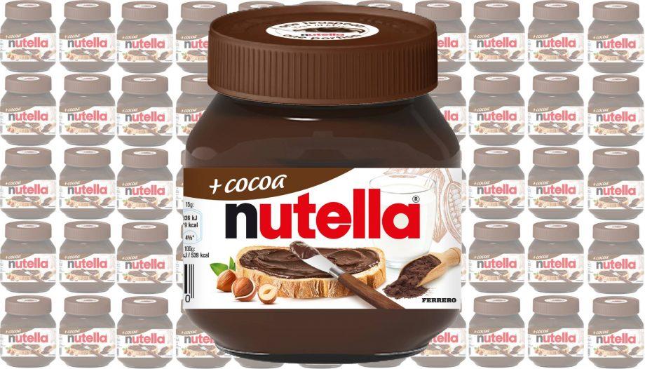 new nutella cocoa + jar