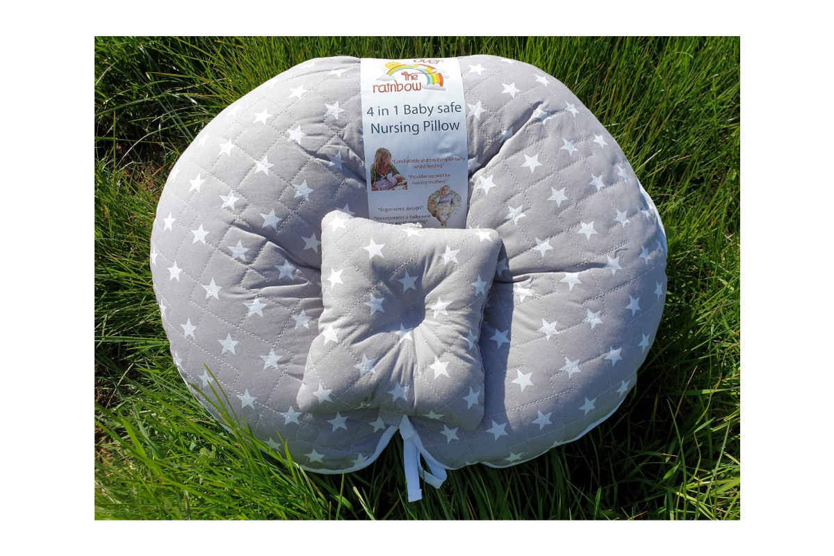 over the rainbow breastfeeding pillow