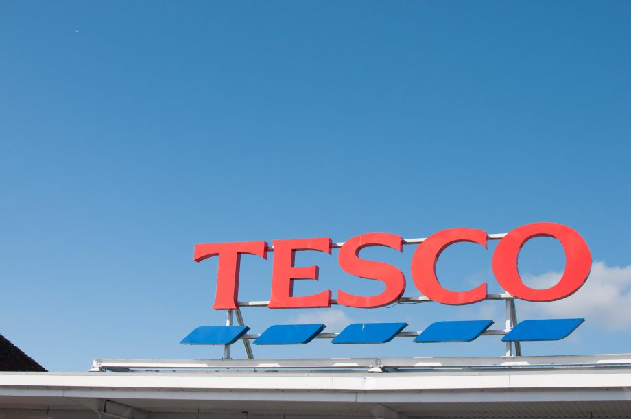 tesco sign - black friday 2020