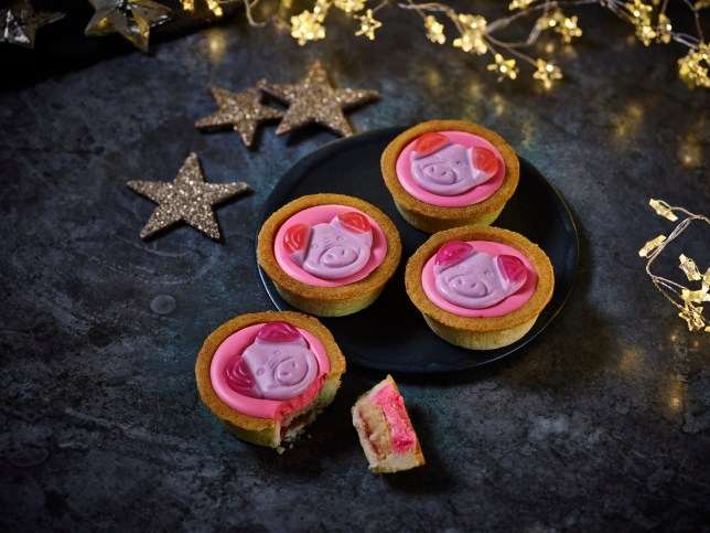 Percy Pig mince pies M&S