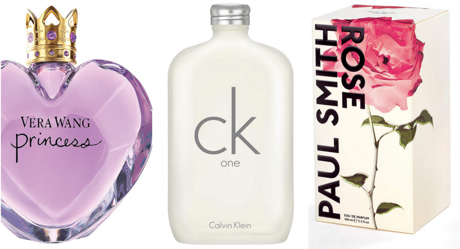 Save 70% of designer perfumes including Vera Wang, Calvin Klein and Paul Smith