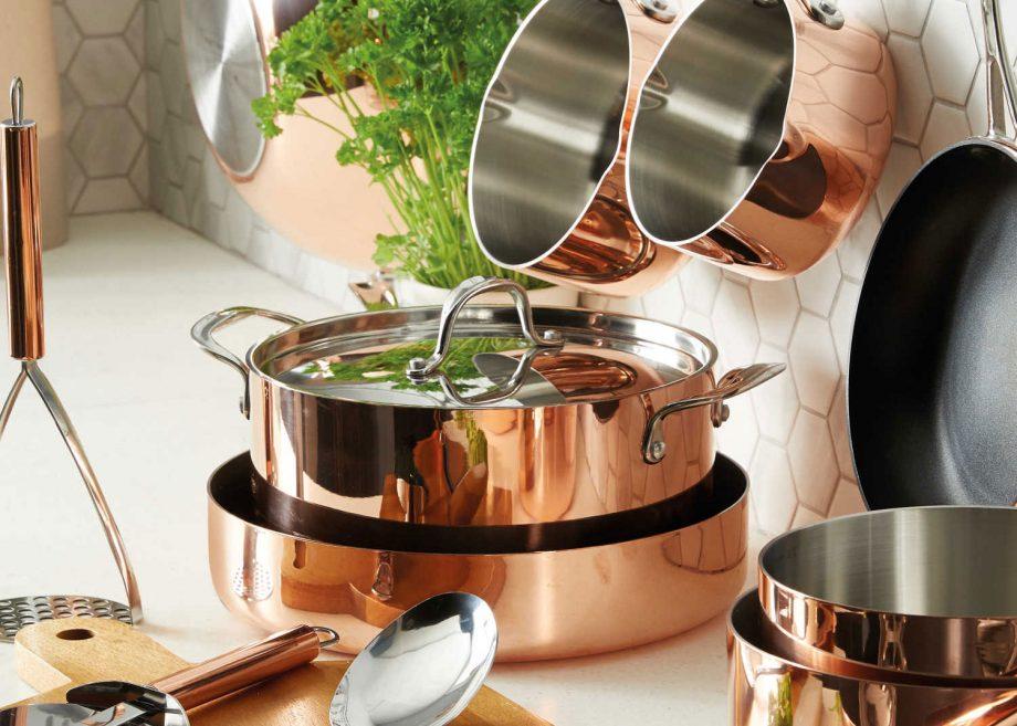 Aldi copper kitchenware range
