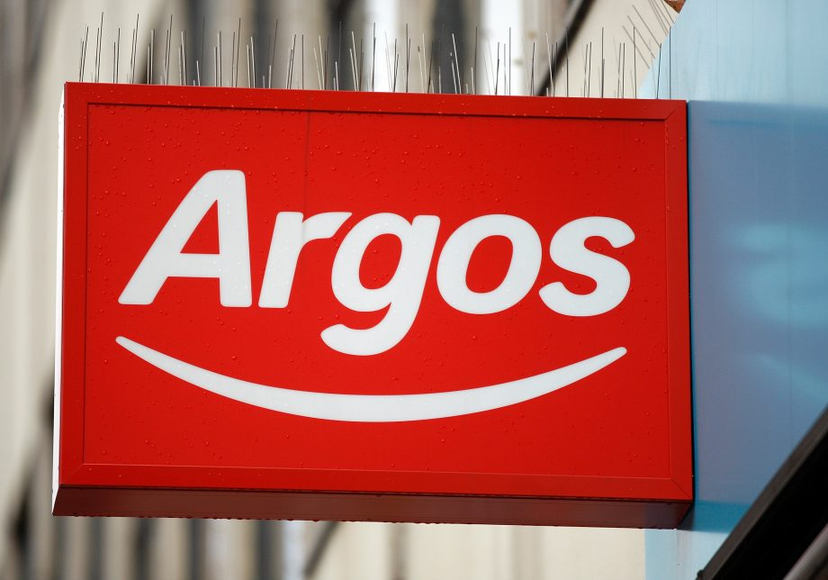 Argos sign outside store