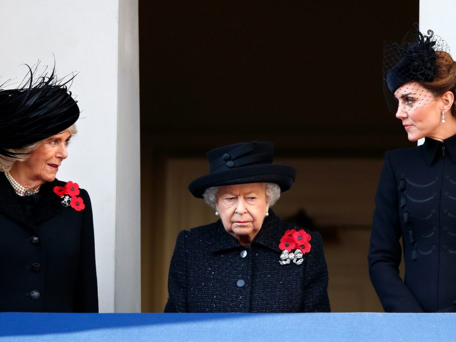 Kate Middleton with the Queen and Camilla Parker Bowles