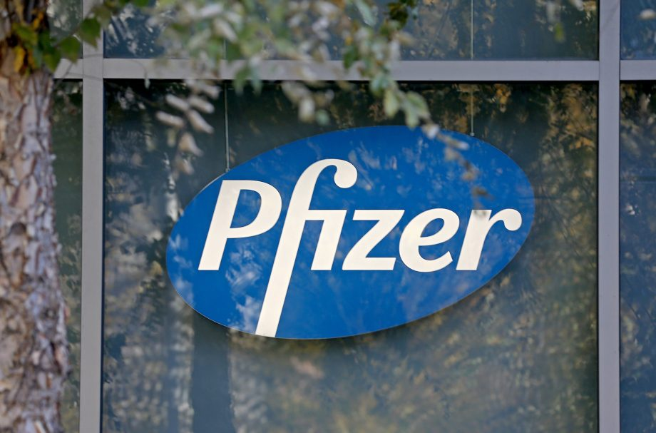 pfizer sign - the company who are developing the vaccine