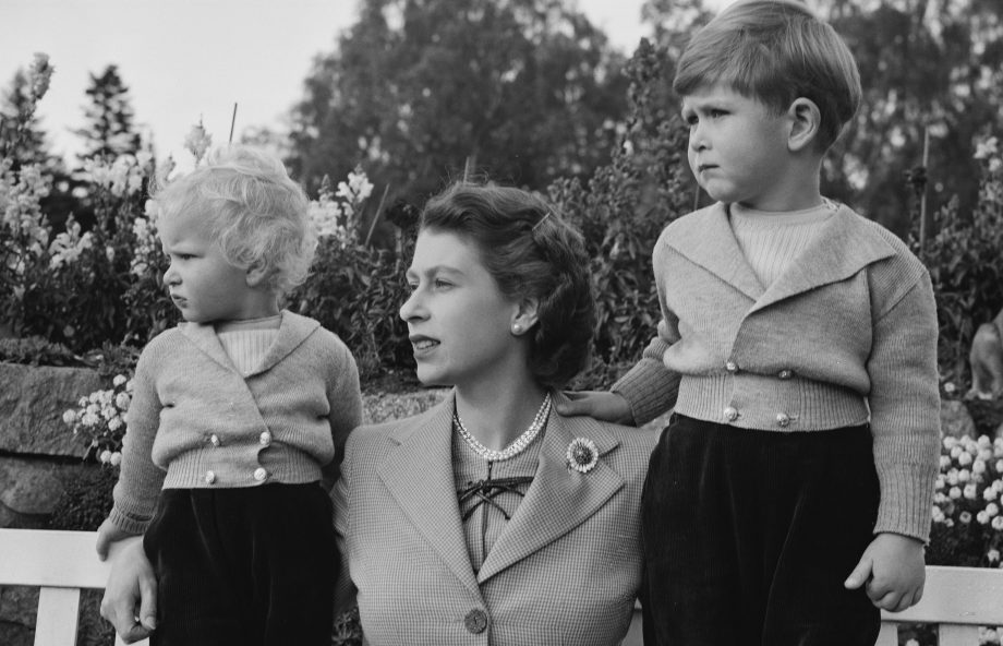 The Queen Prince Charles birth