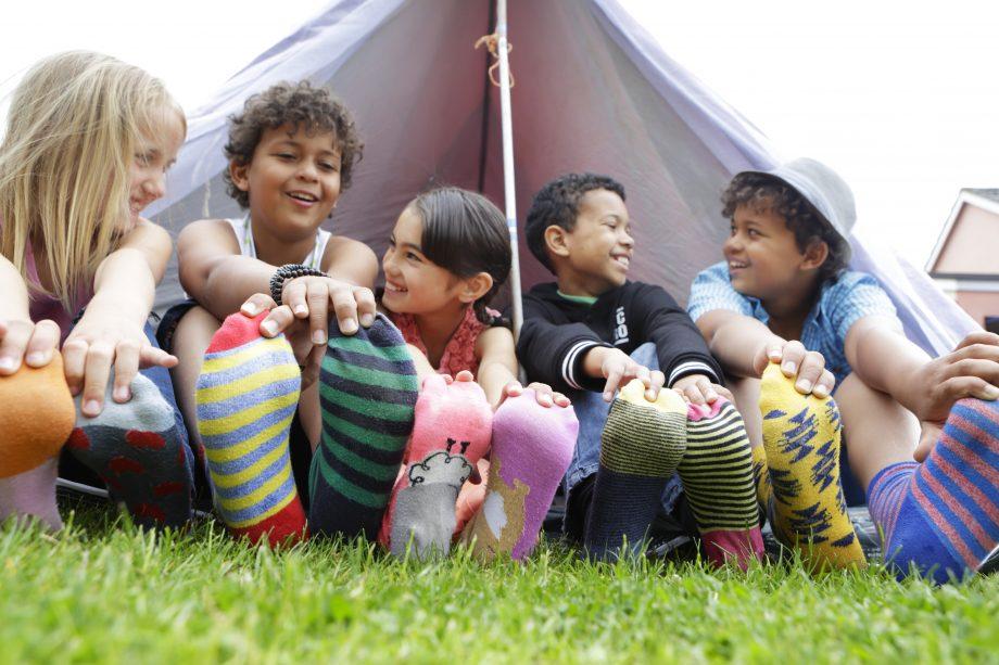 children on odd socks day 2020