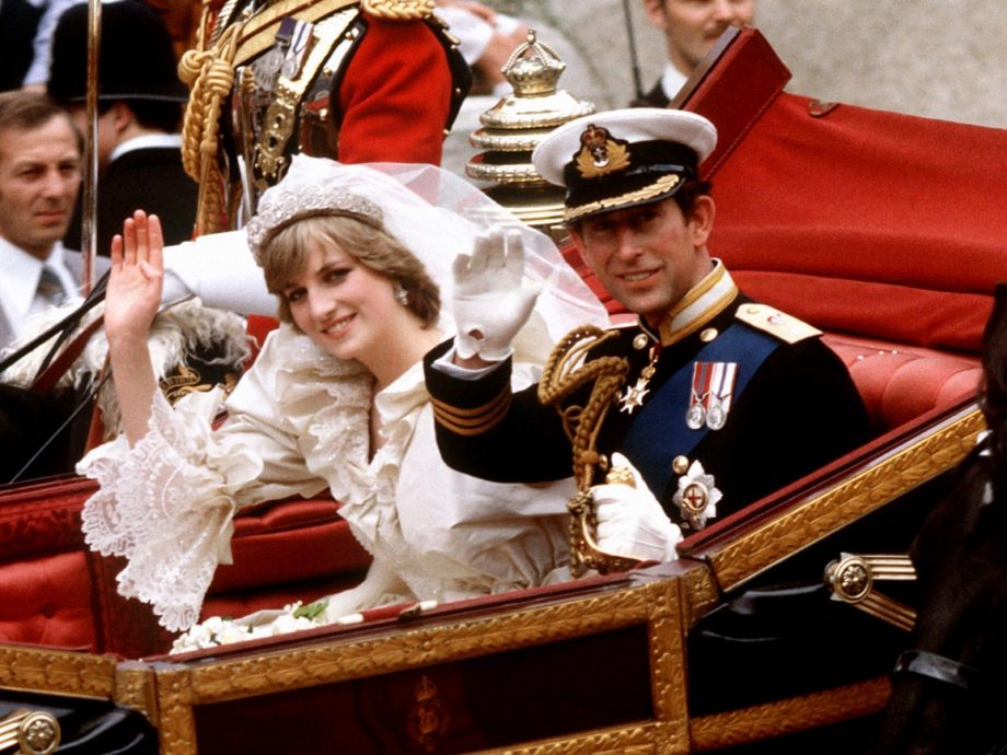 Princess Diana and Prince Charles on the day they got married