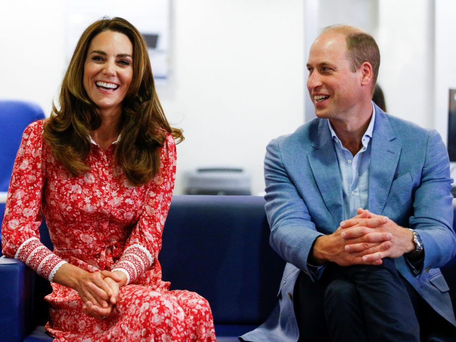 Kate Middleton and Prince William visiting the London Bridge Jobcentre
