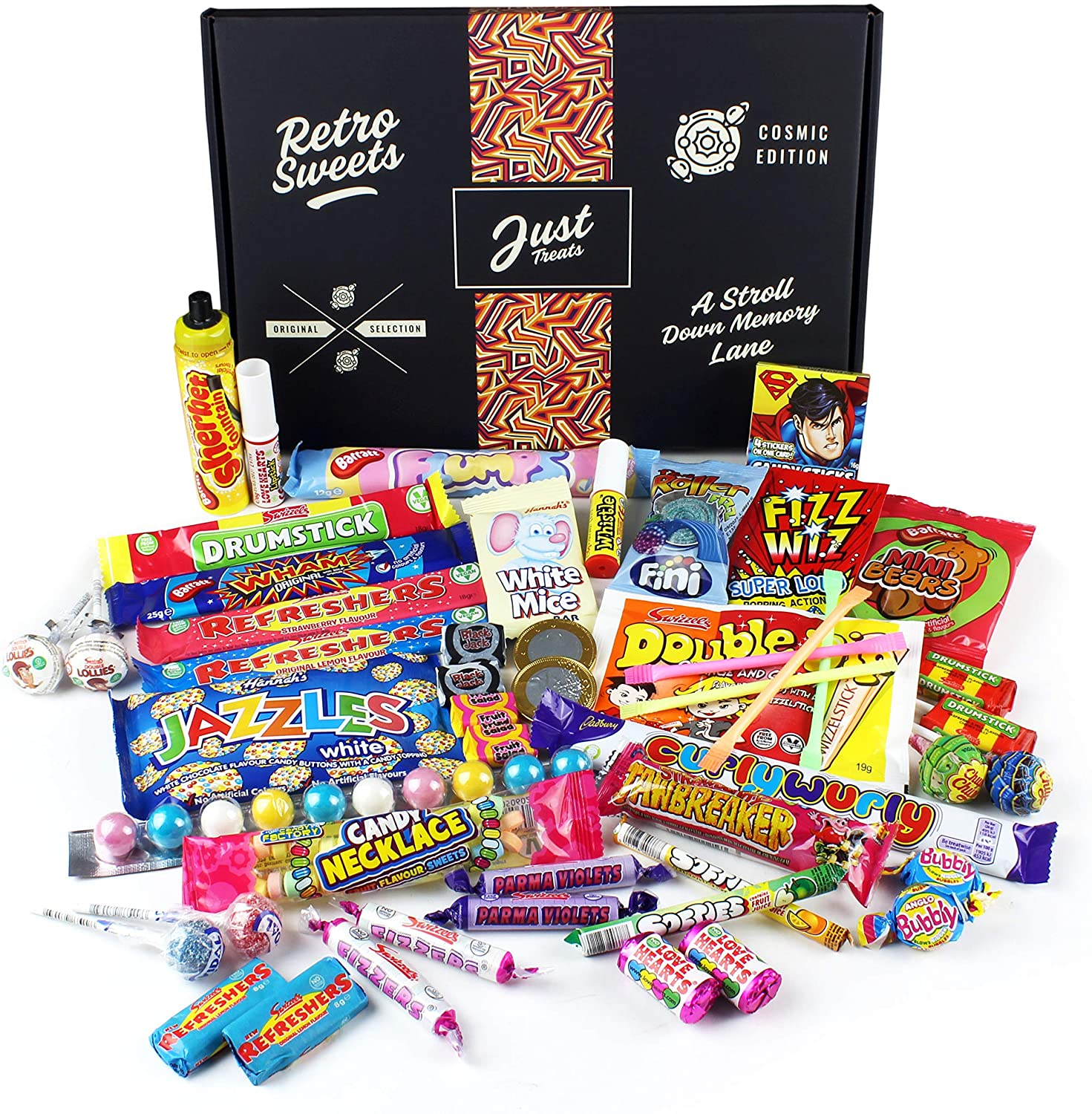 This GIANT retro sweet hamper is perfect for anyone with a sweet tooth
