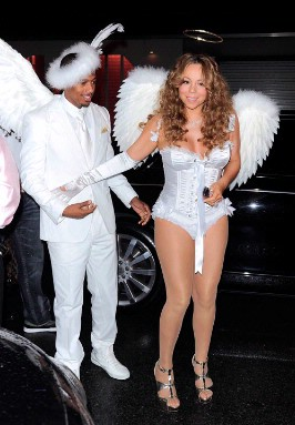 Celebrities Do Halloween Dress-Up - Mariah Carey and Nick Cannon - 1