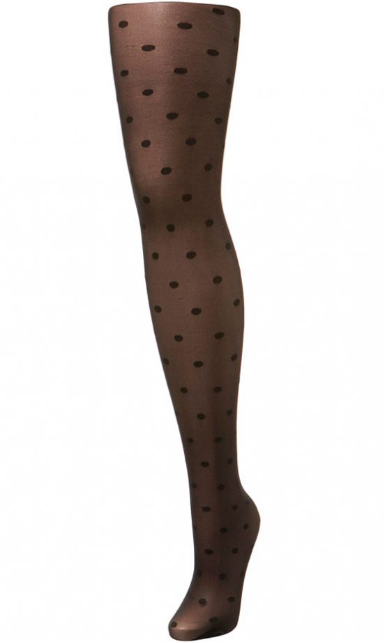 Miss Selfridge Black Sheer Small Spot Tights, £12