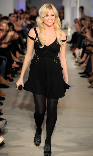 Pixie Lott performs on the catwalk at The LOOK Show - the high street fashion show during London Fashion Week 2010