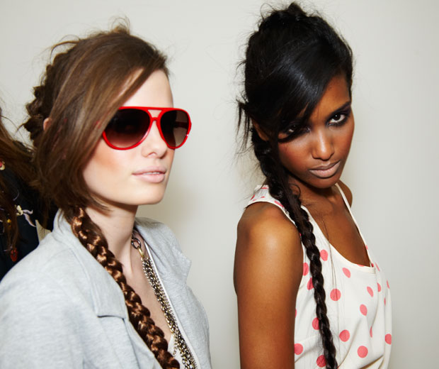 Hairstyle How To: get the plaited hairstyle look featured in The LOOK Show