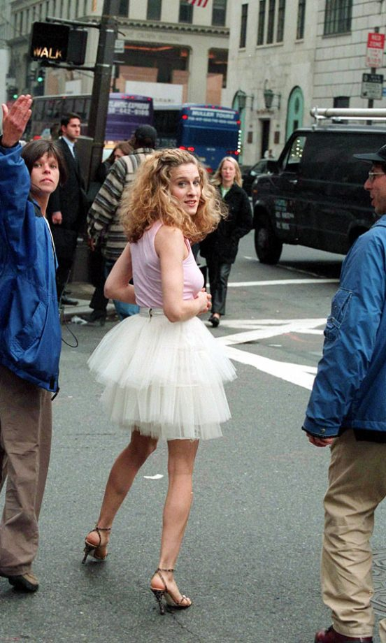Sarah Jessica Parker Filming The Sex And The City Opening Sequence, 1998