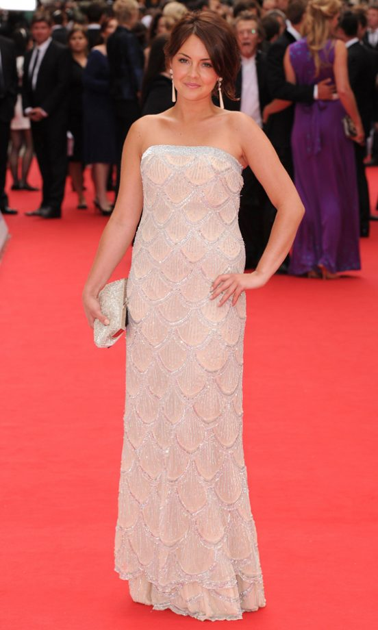 Lacey Turner Wearing A Dress By Cream At The BAFTA British Academy Television Awards 2010