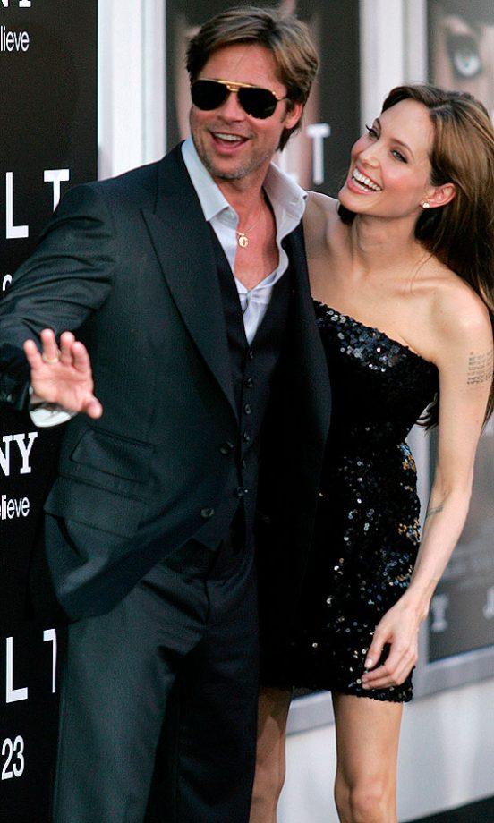 Angelina Jolie Giggles At Brad Pitt At Salt Premiere, 2010