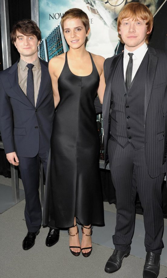 Emma Watson, Daniel Radcliffe And Rupert Grint At The Harry Potter And The Deathly Hallows New York Film Premiere 2010