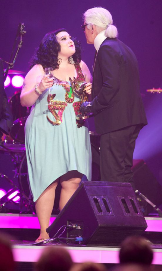 Beth Ditto And Karl Lagerfeld At The Bambi Awards 2010, Germany