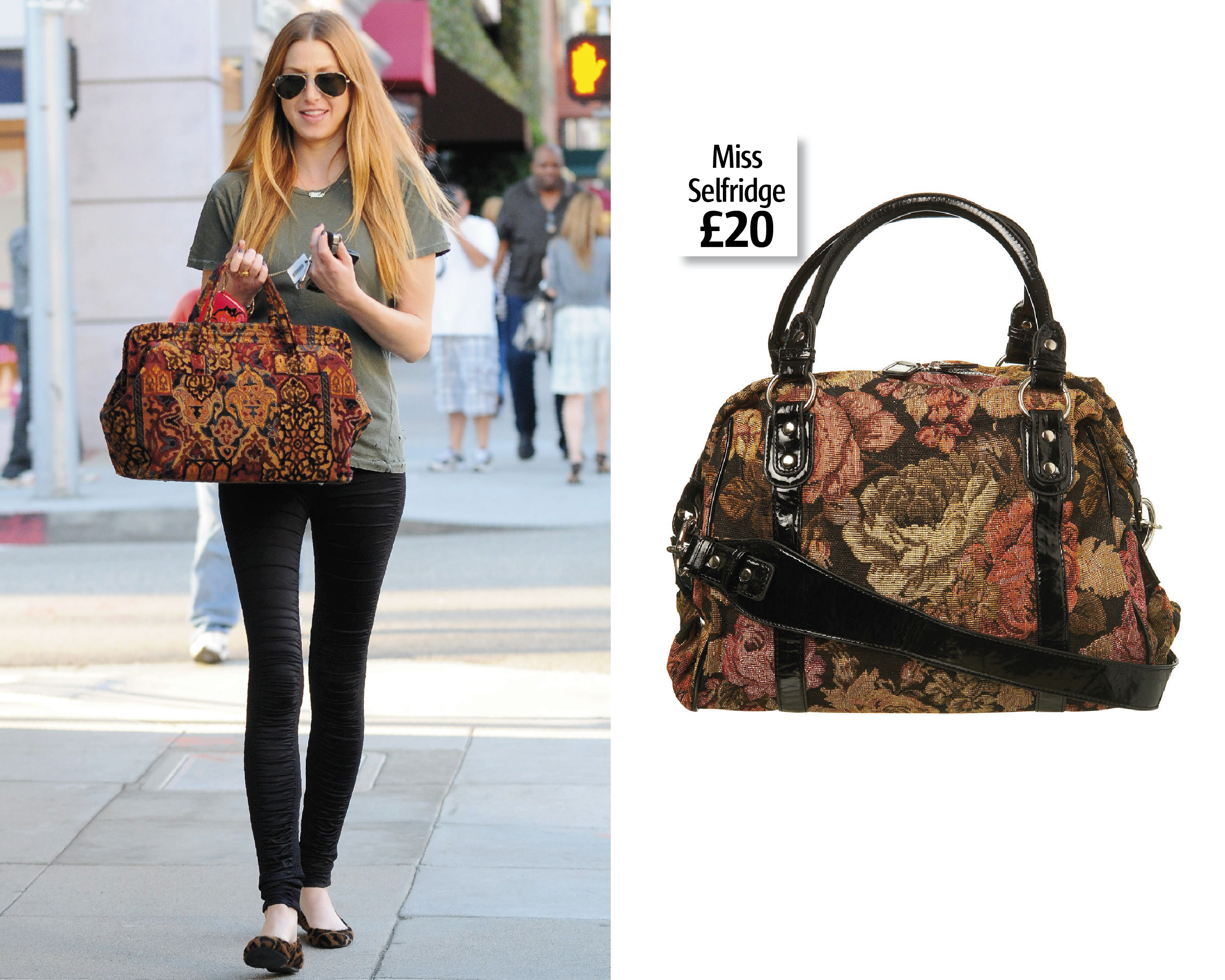 We're Obsessed With Whitney Port's Tapestry Bag | Look