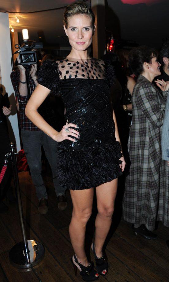 Heidi Klum At The Instyle/Bafta Best Of British Party, 2011