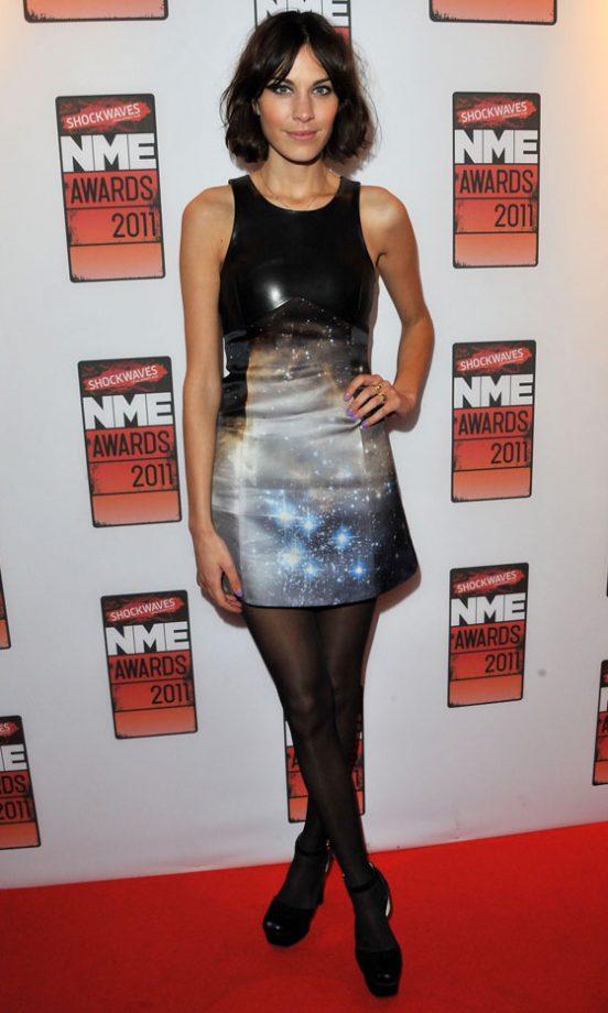 Alexa Chung Wearing Christopher Kane At The NME Awards 2011